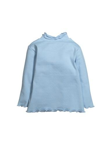 Zeyland Balıkçı Yaka Fırfırlı Uzun Kollu T-Shirt (6ay-12yaş) Balıkçı Yaka Fırfırlı Uzun Kollu T-Shirt (6ay-12yaş) Mavi